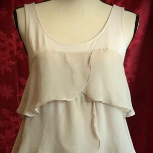 🎄Lauren Conrad Womens Tiered  Chiffon Tank Top 🎄